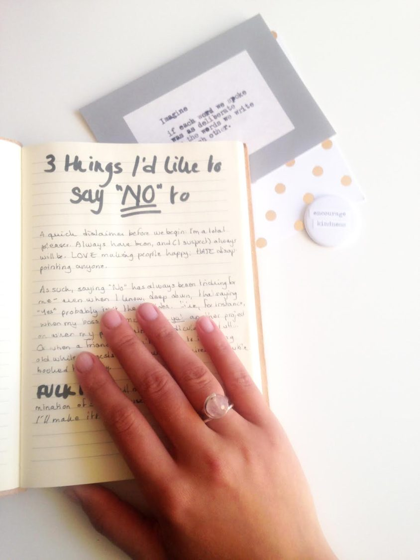 Self Love Prompts: 3 Things I'd Like To Say No To | Uncustomary