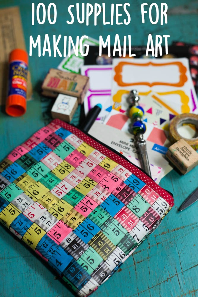 100 Supplies For Making Mail Art | Uncustomary