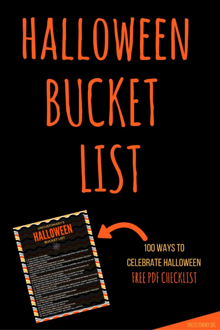 Halloween Bucket List: 100 Ways To Celebrate Halloween | Uncustomary