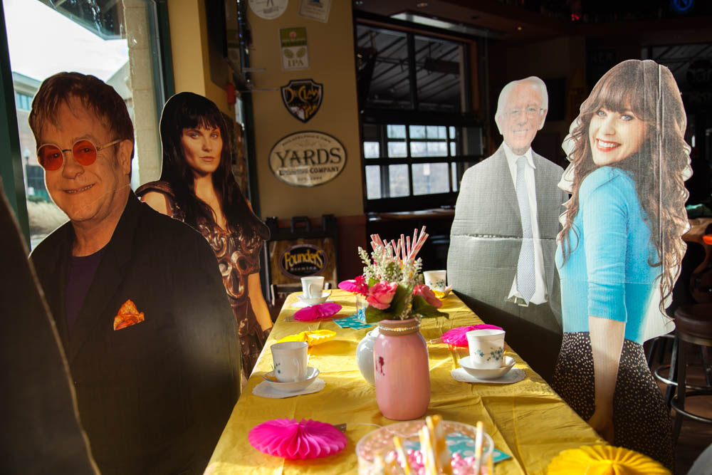 Life-Size Cut-Out Celebrity Tea Party | Uncustomary