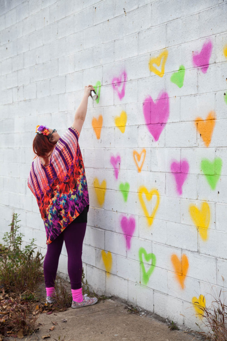 Heart Wall - Uncustomary's First Mural | Uncustomary