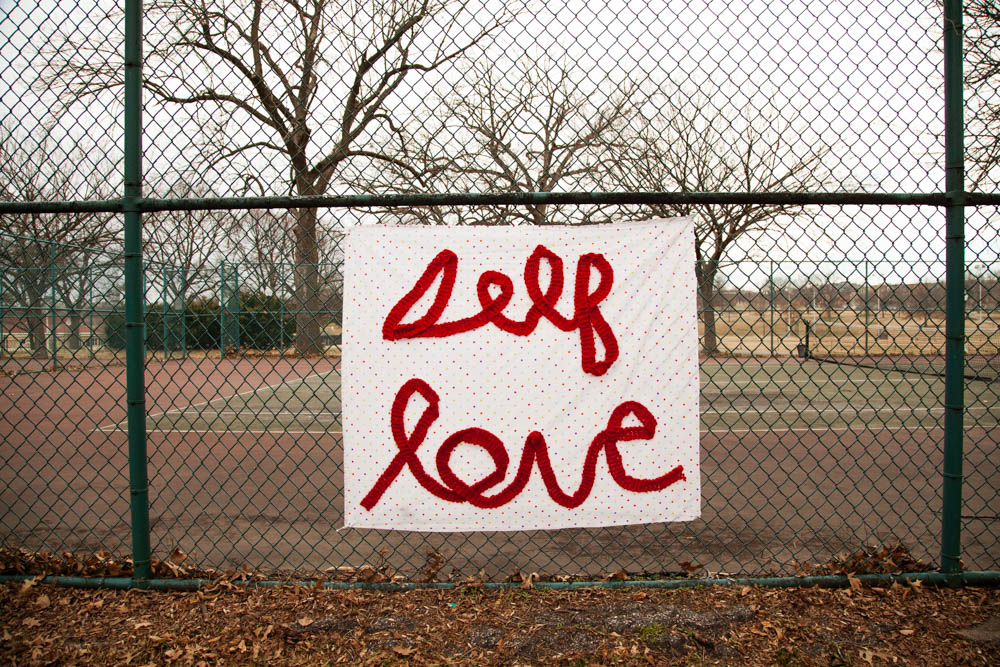 Self-Love Yarnbomb | Uncustomary
