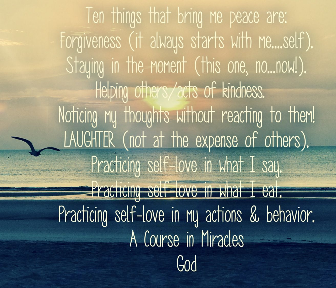 Ten Things That Bring Me Peace Are.. | Uncustomary