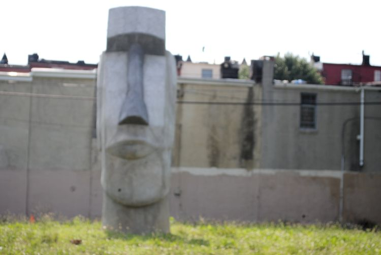 Roadside America Maryland Easter Island Sculpture Baltimore Uncustomary Art