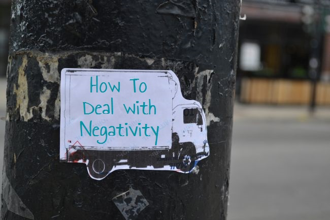 How To Deal With Negativity | Uncustomary Art