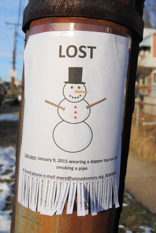 Missing Snowman | Uncustomary Art