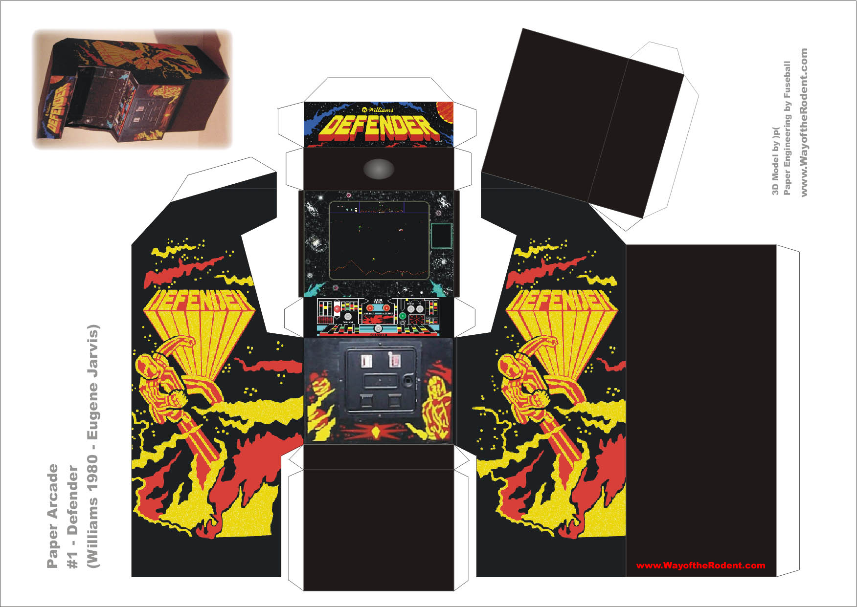 Arcade Machine Papercrafts