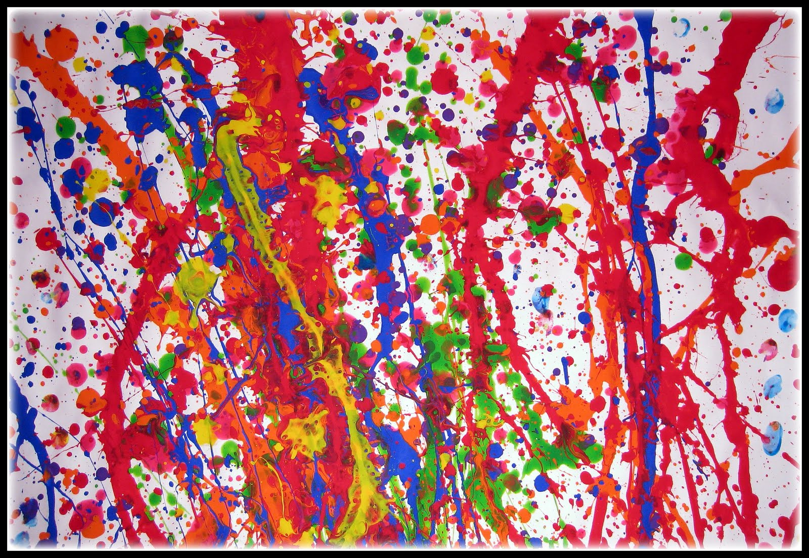 Basking in color an abstract expressionist approach to for Jackson pollock coloring page
