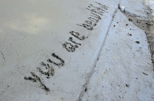 Bucket List: Write In Wet Cement | Uncustomary Art