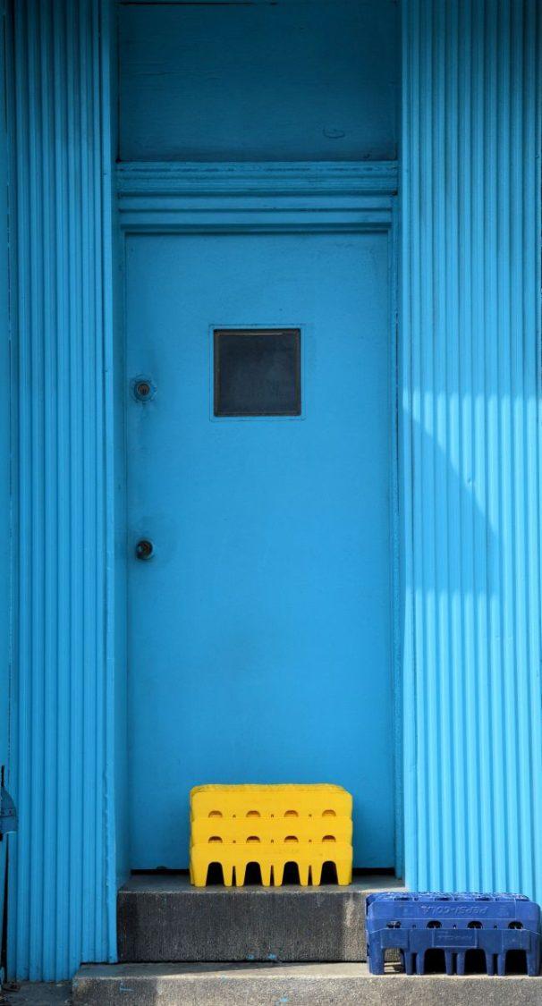 Rainbow Doors In Baltimore   Uncustomary Art
