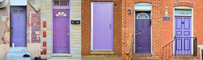 Rainbow Doors In Baltimore | Uncustomary Art & Rainbow Doors In Baltimore | Uncustomary