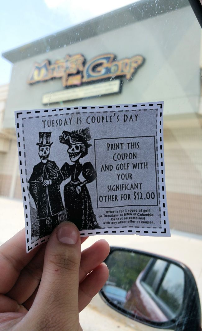 It's just a picture of Modest Monster Mini Golf Coupons Printable