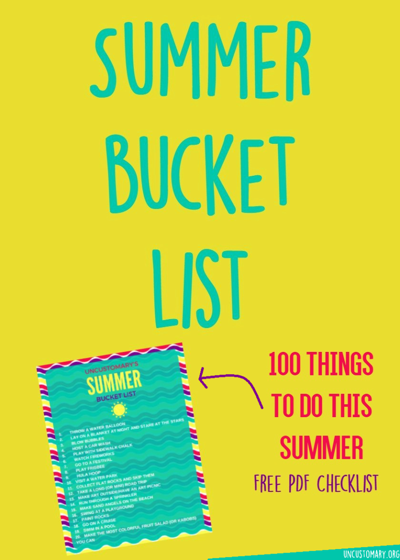 Summer Bucket List: 100 Things To Do In Summer | Uncustomary