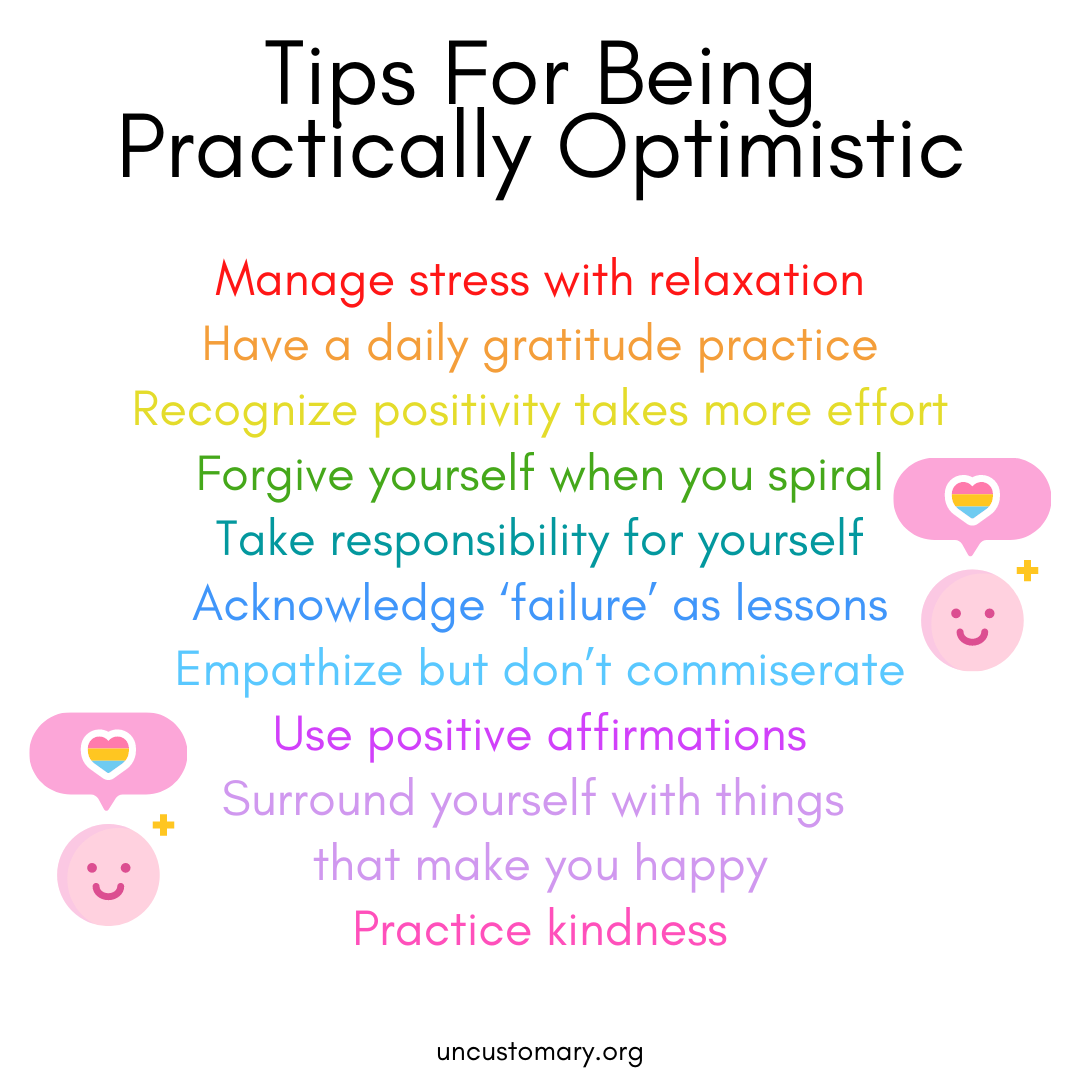 10 Tips For Being Practically Optimistic | Uncustomary