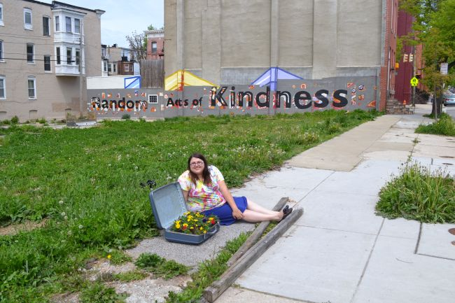 Guerrilla Gardening in Baltimore by Uncustomary Art