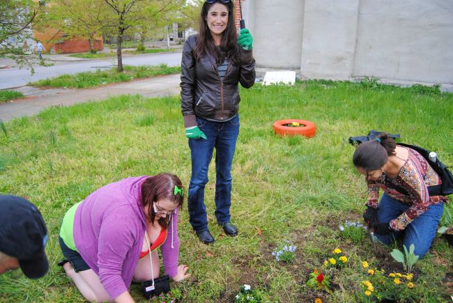 Guerrilla Gardening in Baltimore For Earth Day | Uncustomary Art