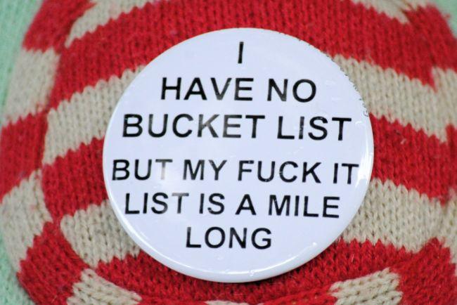 Fucket List | Uncustomary Art