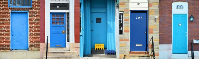 Rainbow Doors In Baltimore | Uncustomary Art