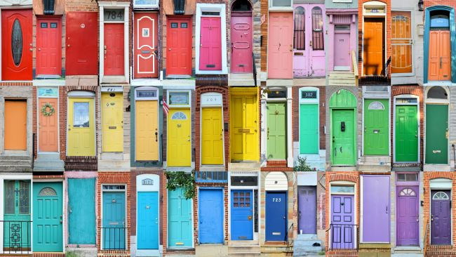 Rainbow Doors In Baltimore | Uncustomary Art