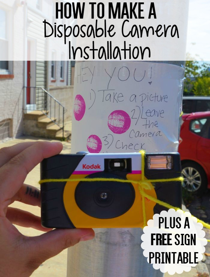 How To Make A Disposable Camera Installation | Uncustomary